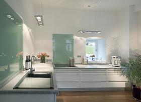 aranżacja wnętrz - Wykorzystano oprawę Aixlight Long QRB4 154202 /oświetlenie kuchni/