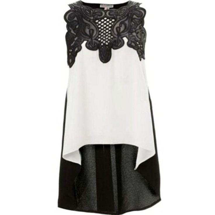 2016 Women's Blouse Casual Sleeveless Chiffon Blouse Shirt Summer Tops