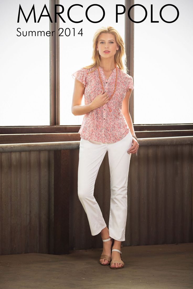 Cap Sleeve Small Paisley Print Shirt- 14S441302M, Cropped Capri Pant- 14S845702M