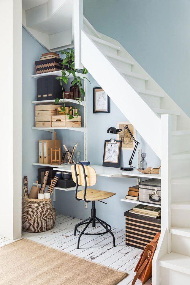 Working From Home Small Office Ideas Apartment Therapy Officefurniture Homeofficeideas Homeofficedesign Ne Design Heminredning Sma Utrymmen Hemmakontor
