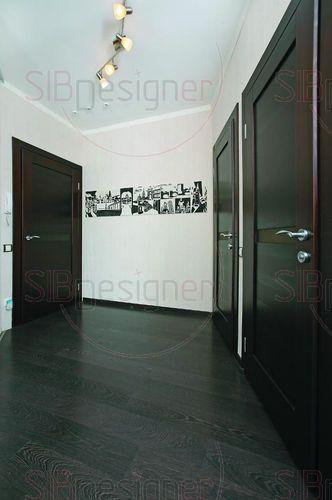 Бело-черный цвет в интерьере двухкомнатной квартиры - СибДизайнер.ru
