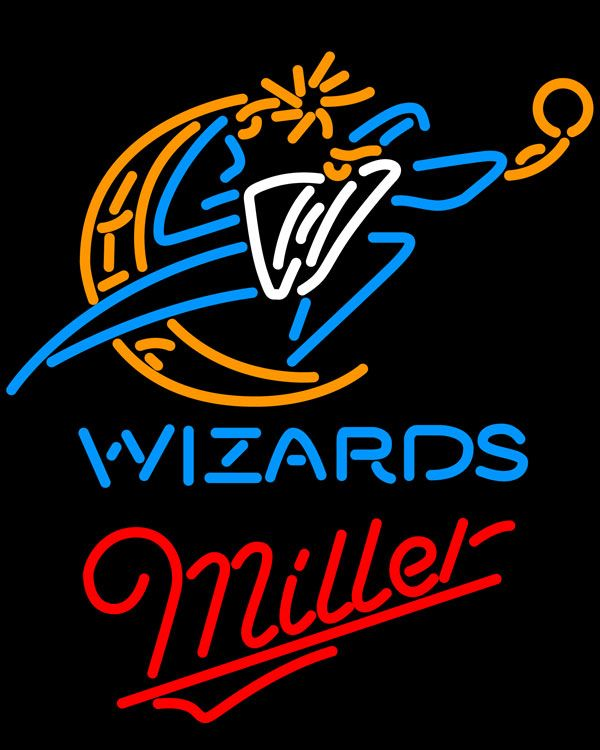 Miller Washington Wizards NBA Neon Sign, Miller with NBA Neon Signs | Beer with Sports Signs. Makes a great gift. High impact, eye catching, real glass tube neon sign. In stock. Ships in 5 days or less. Brand New Indoor Neon Sign. Neon Tube thickness is 9MM. All Neon Signs have 1 year warranty and 0% breakage guarantee.