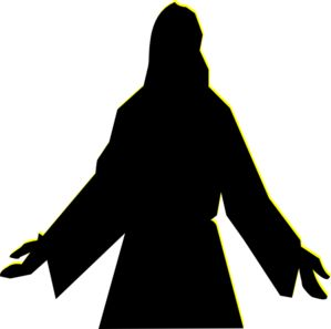 free silhouette clip art Christ - Google Search