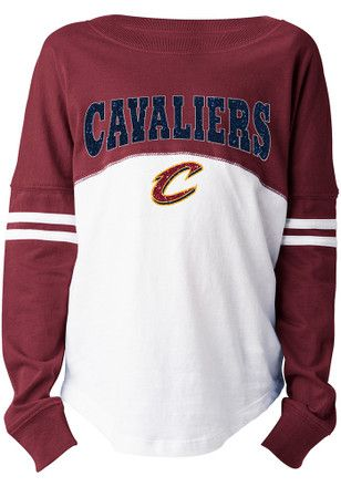 876500ea15e8 Cleveland Cavaliers Girls Red Varsity Long Sleeve T-shirt. Cleveland  Cavaliers Team Shop ...