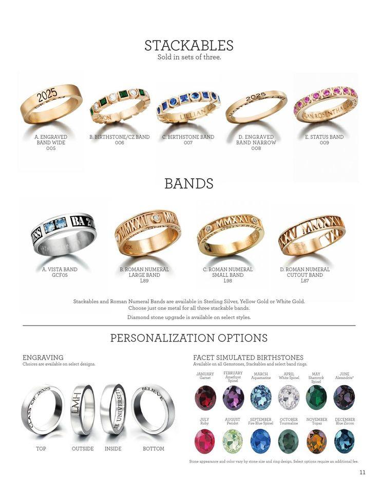 Jostens college jewelry catalog college jewelry