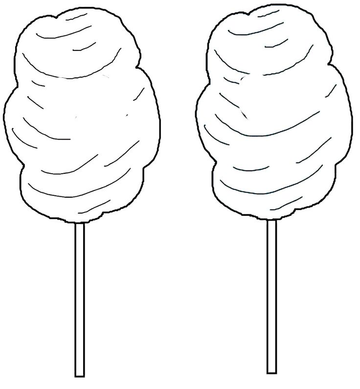 303 best images about dibujos on pinterest coloring for Cotton candy coloring page