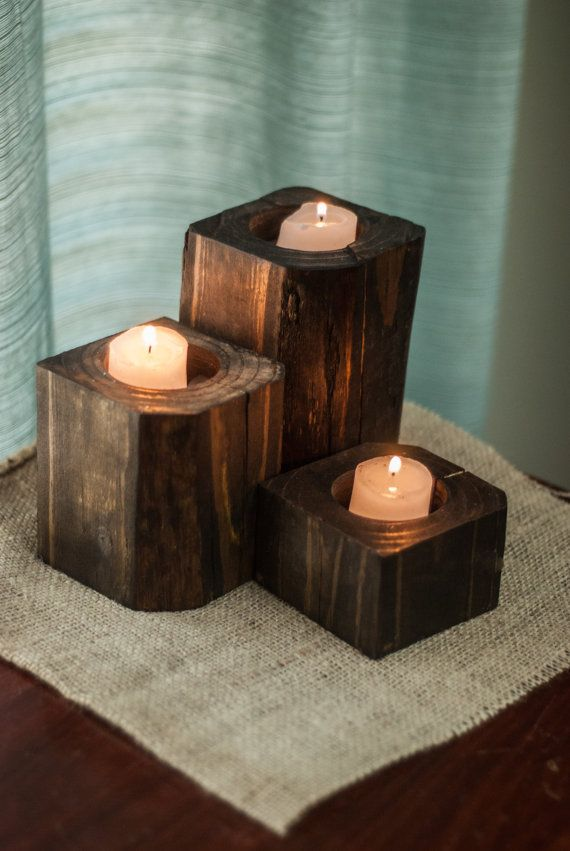 1000 ideas about wood candle holders on pinterest candle holders candles and tea light candles. Black Bedroom Furniture Sets. Home Design Ideas