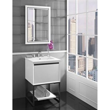 Photos Of Fairmont Designs M Vanity for Integrated Sinktop Glossy White