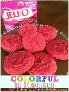 Colorful Jell-O Cookies Recipe. So fun and easy to make. You can use any flavor of Jell-O and get creative!