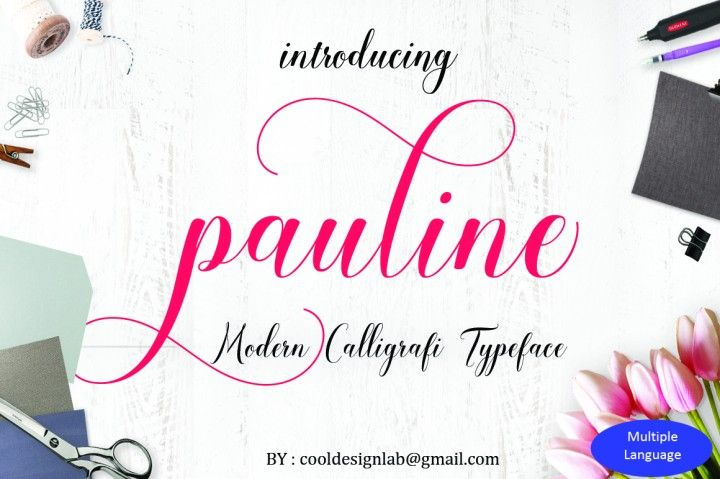 pauline script ( 30% OFF) By cooldesignlab