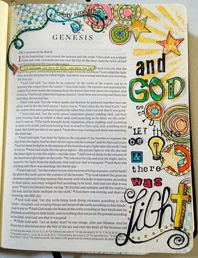 Genesis 1 Light Of The World Genesis Bible Journaling