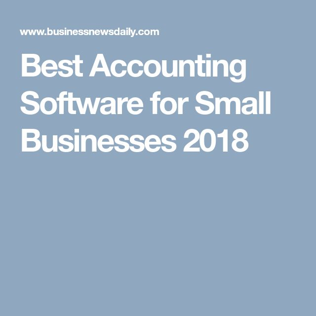 Best Accounting Software for Small Businesses 2018