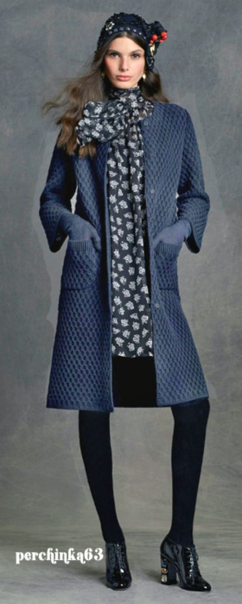 Пальто D&G Средиземноморский шик спицами - perchinka63.ru