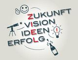 Vektor: Zukunft Ziele Vision
