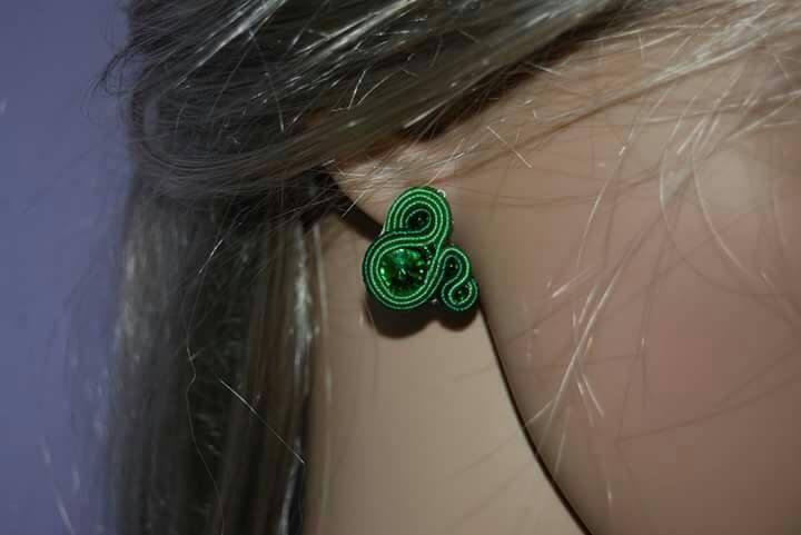 Orecchini verdi  soutache orecchini verdi orecchini piccoli