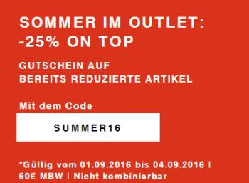 Zalando: 25 Prozent Rabatt auf bereits reduzierte Sale-Artikel bis Sonntag https://www.discountfan.de/artikel/klamotten_&_schuhe/zalando-25-prozent-rabatt-auf-bereits-reduzierte-sale-artikel-bis-sonntag.php Bei Zalando gibt es ab sofort und nur für vier Tage einen Rabatt von 25 Prozent auf bereits reduzierte Mode-Artikel. Im Angebot sind über 100.000 Produkte, der Rabatt gilt jedoch immer nur für ausgewählte Größen. Zalando: 25 Prozent Rabatt auf bereits reduzierte Sa