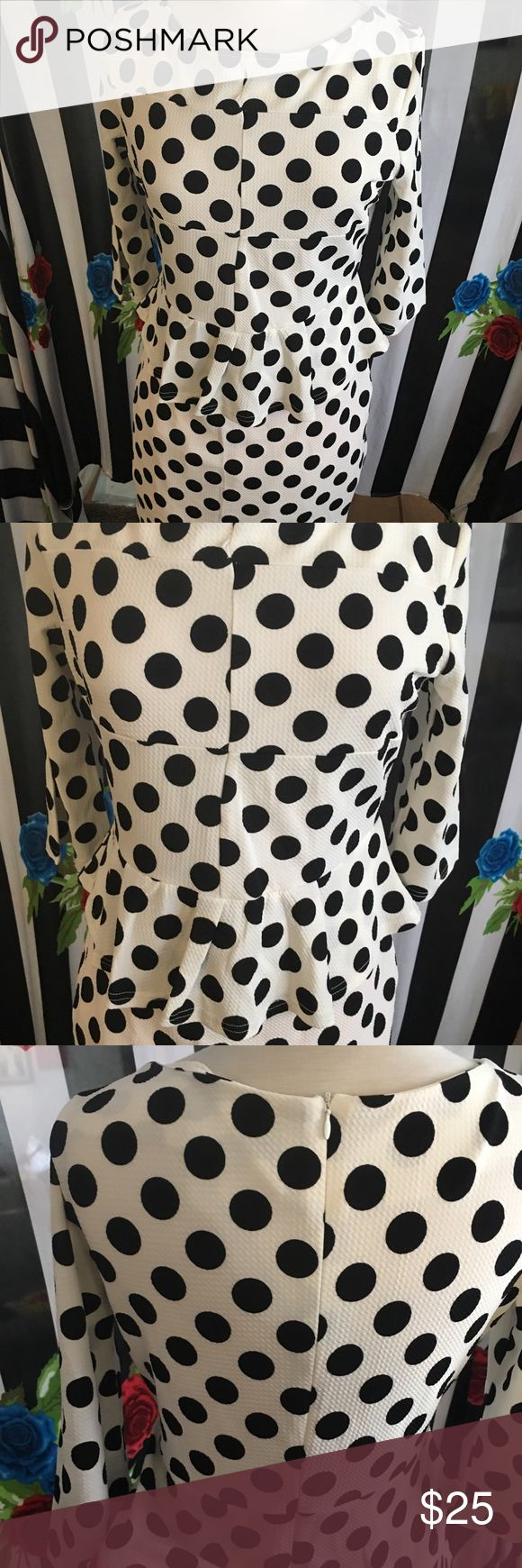 Super cute vintage inspired Pinup dress XL BNWOT Super cute vintage inspired Pinup dress XL. Very comfy. Lots of stretch. Polka dots. Perfect for any occasion Dresses Midi