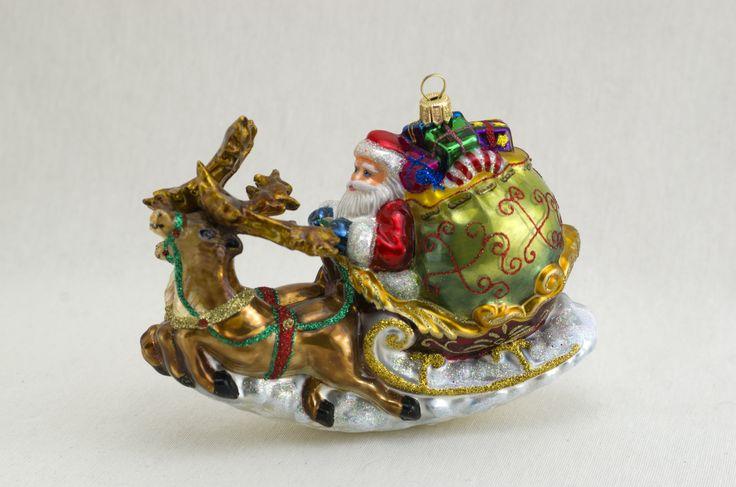 Komozja Family Co - Santa in Sled w/Reindeer 2373
