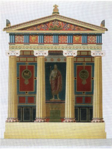 Jacques-Ignace Hittorff, Reconstruction of the Temple of Empedocles at Selinunte, Sicily, 1830.
