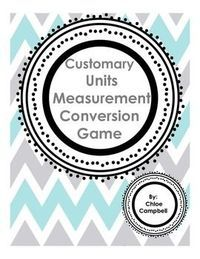 Customary Units Measurement Conversion Game - Awesome level of student engagement!   Chloe Campbell
