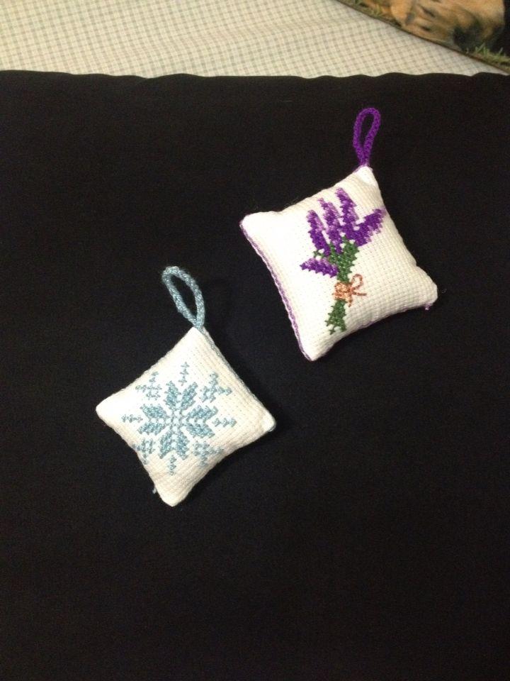 Lavanta dolu çarpıişi minik yastıklar Sachet , lavender pillow