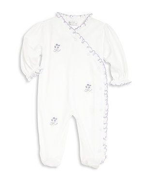 Kissy Kissy Baby's Ribbon Bouquets Embroidered Footie