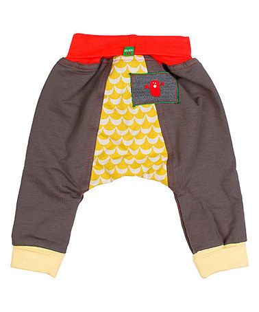 Look what I found on #zulily! Gray & Yellow Macho Man Harem Pants - Infant & Toddler by Oishi-m #zulilyfinds