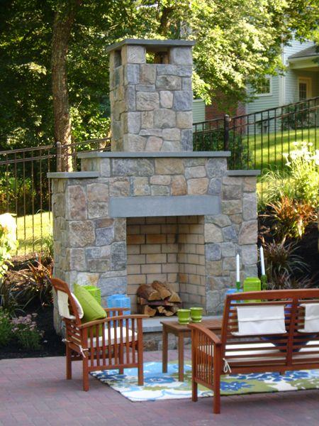 Natural Stone Facing Fireplace