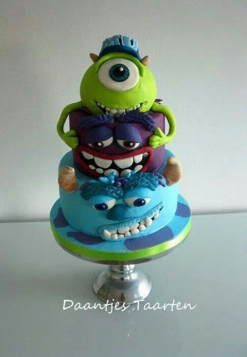Monsters Inc Cake - For all your cake decorating supplies, please visit craftcompany.co.uk