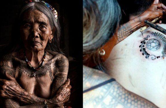 ഇത് ഓഗി എന്ന 'സൂപ്പർ കൂൾ' ടാറ്റു മുത്തശ്ശി; ലോകത്തെ പരമ്പരാഗത പച്ചകുത്തലിന്റെ അവസാനത്തെ കണ്ണി!  tattoo artist whang od oggay http://arivukal.in/oldest-tattoo-artist-whang-od-oggay/