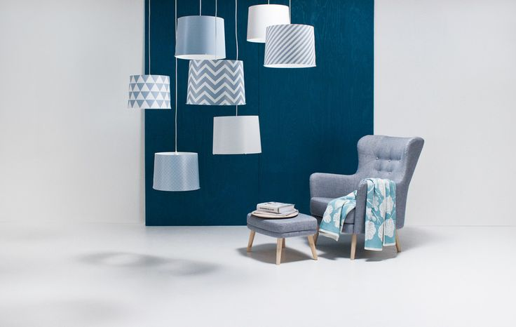 Switch pendants with geometric patterns & Form - a modern version from a classic armchair