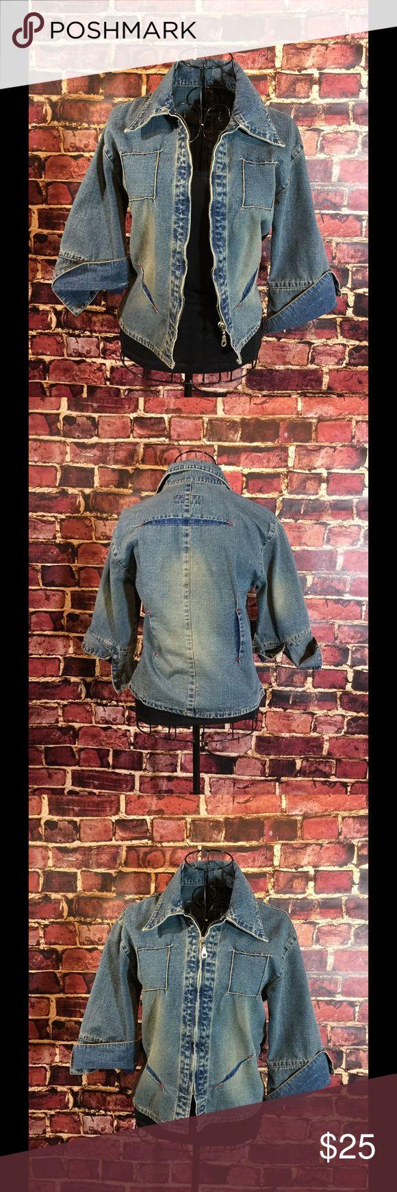 Diesel denim jacket Super fun, unique denim jacket. Size medium but fits like a small Diesel Jackets & Coats Jean Jackets
