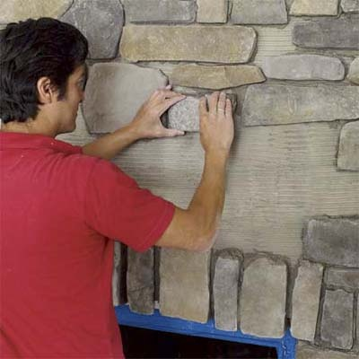 Photo: Wendell T. Webber | thisoldhouse.com | from How to Build a Stone-Veneer Fireplace Surround