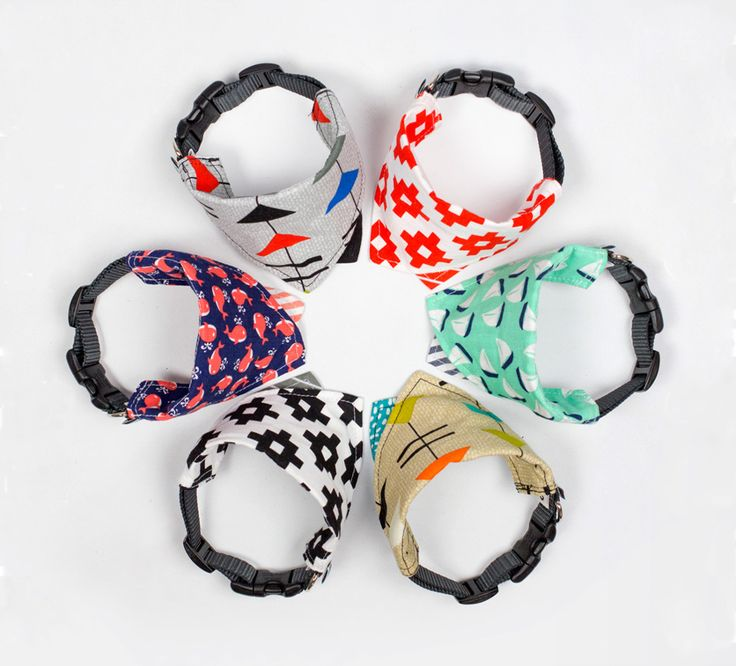 New Dog Bandana Collars from Wildebeest - Dog Milk