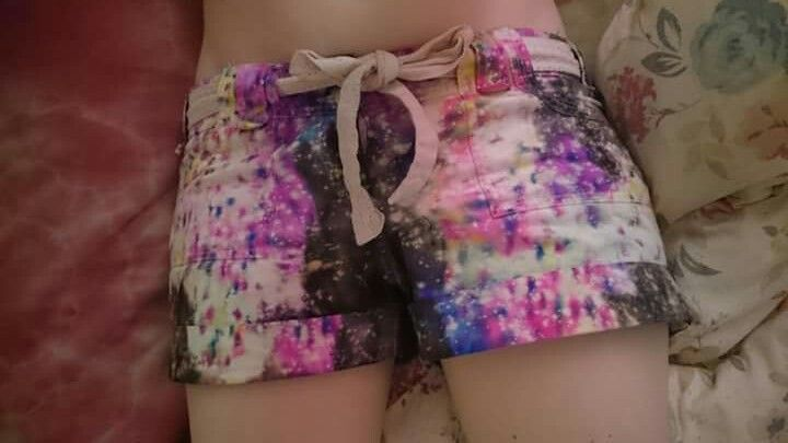 Whay ive dubbed confetti party galaxy shorts. Used sharpies, metho and bleach