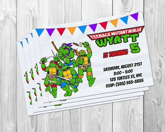 TMNT NINJA TURTLE Teenage Mutant Ninja Turtles by BBNGRAFX on Etsy