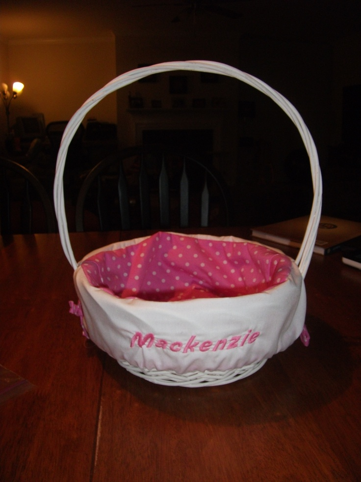 Personalized Easter Basket Liner Crafty Ideas