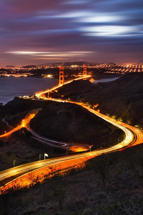 Curves of Golden Gate | San Francisco by Ali Erturk by photoblog.sanfranciscofeelings.com sanfrancisco sf bayarea alwayssf goldengatebridge goldengate alcatraz california
