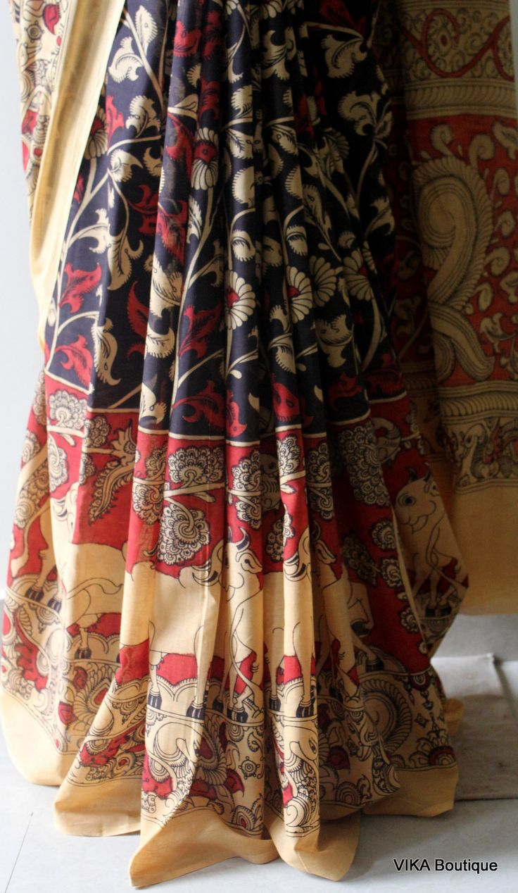 Pen kalakari saree at vika boutique