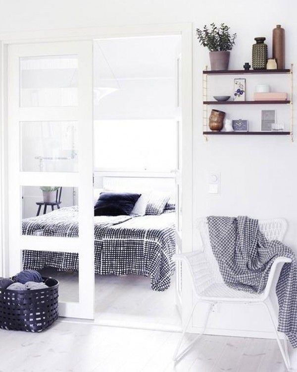 White Scandinavian Bedroom Design
