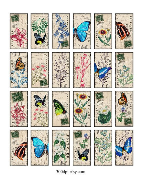 imágenes Vintage 1 x 2 pulgadas domino tile colgante por 300dpi