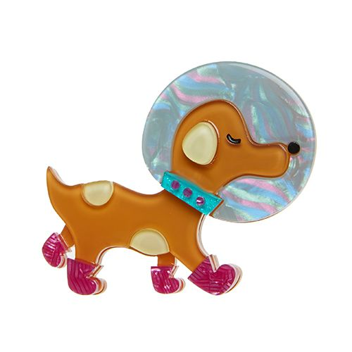 Erstwilder Apollo k9 brooch | Erstwilder Goes Galactic | Resin Brooches