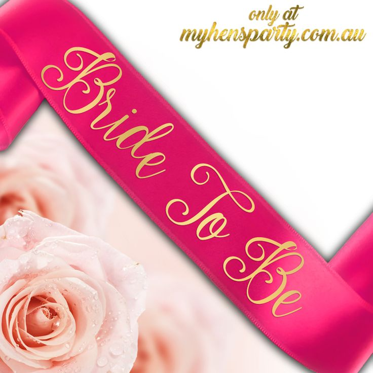 Bride To Be Sash - Printed or Glitter