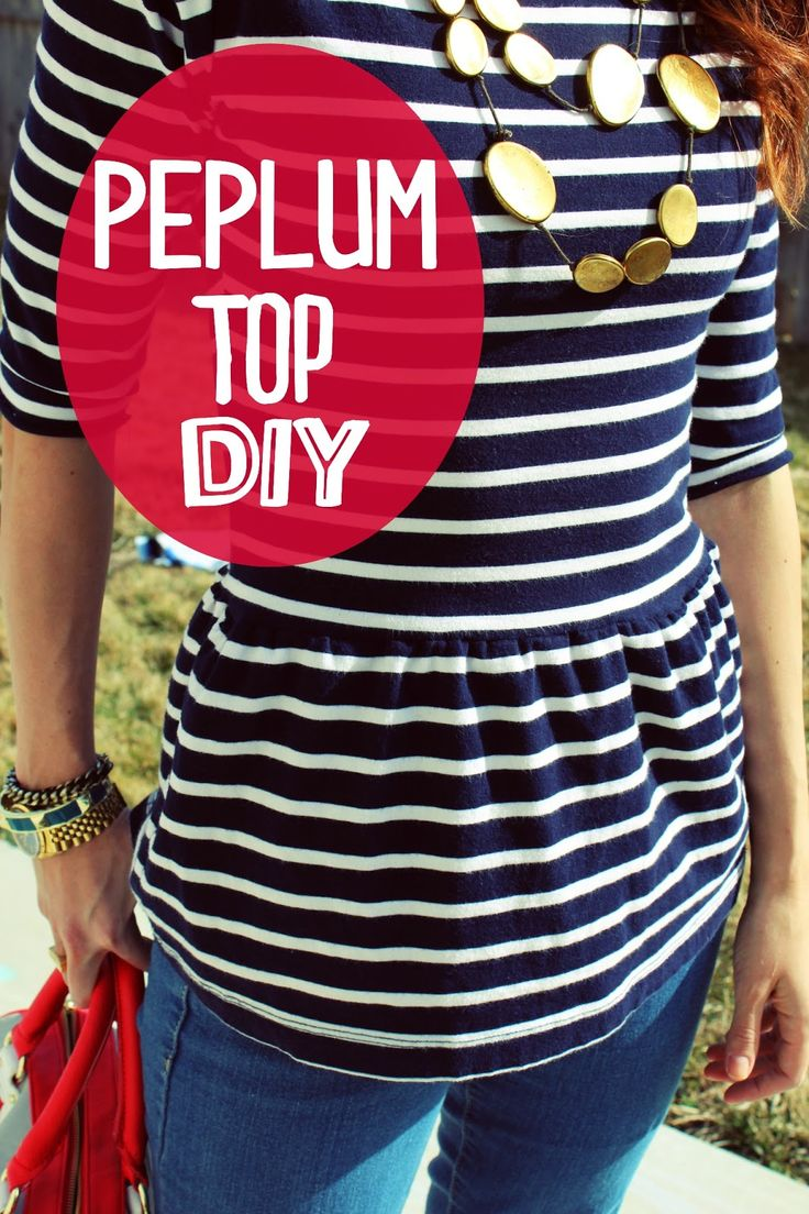 THE SISTERS FOUR: The easiest (laziest) Peplum Top tutorial EVER!