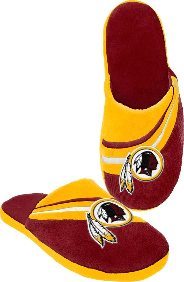 Who wouldn't want to keep their feet cozy with #Redskins slippers? #HTTR