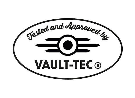 Fallout Vault-Tec Laptop Vinyl Sticker Decal