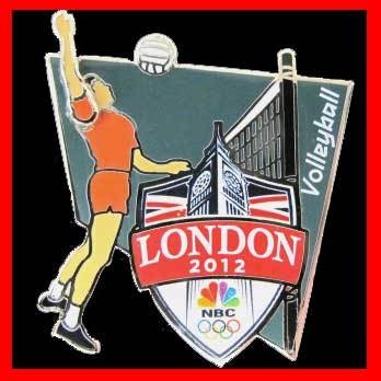 2012 Olympic Volleyball Sports Pin