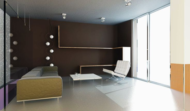 living room for a house rendering with mental ray in 3ds max