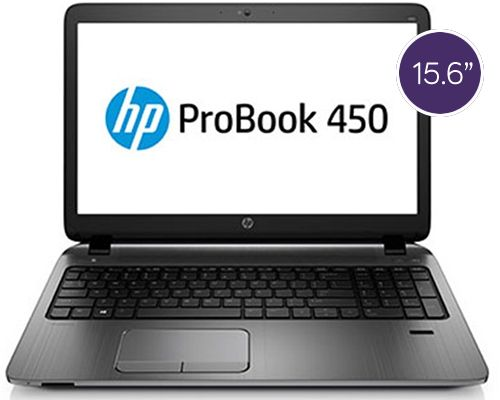 HP ProBook 450 – 15.6″, 2.1GHz Processor, 500GB Storage