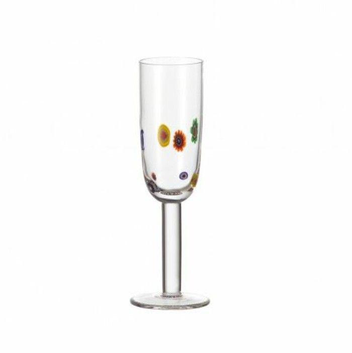 Leonardo wine glass architecture of the wine glass Champagne Flute millefiori